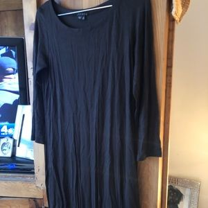 NWOT brown 3/4 sleeve theory dress size small